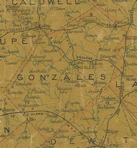 gonzales county texas map sedan texas
