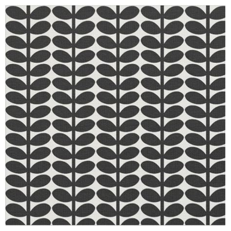 black and white leaf pattern retro leaf pattern 1950 s flora black and white fabric