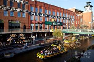 Walk In Shower With Curtain Bricktown Canal Oklahoma City Photograph By Bill Cobb