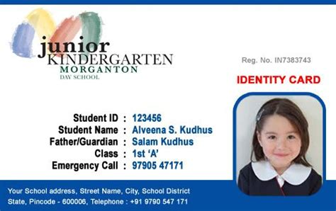 beautiful student id card templates desin and sle word