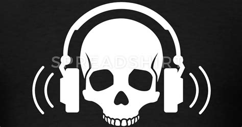Skull Headphones skull headphones t shirt spreadshirt