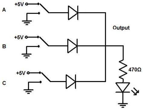 diode circuit for not gate how to build a diode or gate circuit