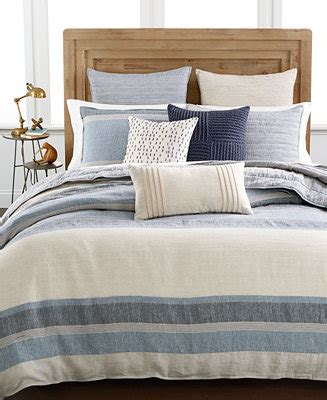 macys bed linen hotel collection linen stripe bedding collection only at
