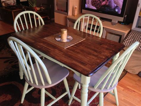 stained table top painted legs pin by conway on table redo s