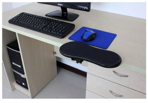desk with wrist rest ergonomic adjustable computer desk extender arm wrist