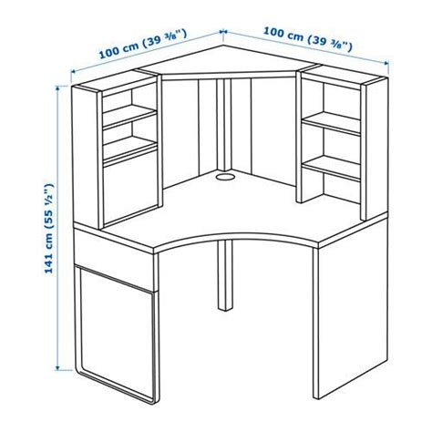 corner desk dimensions image result for micke corner desk dimensions spaces