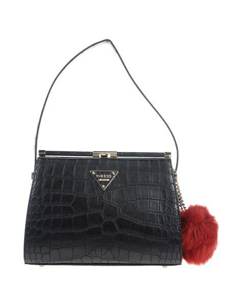 Black Guess guess handbag in black lyst