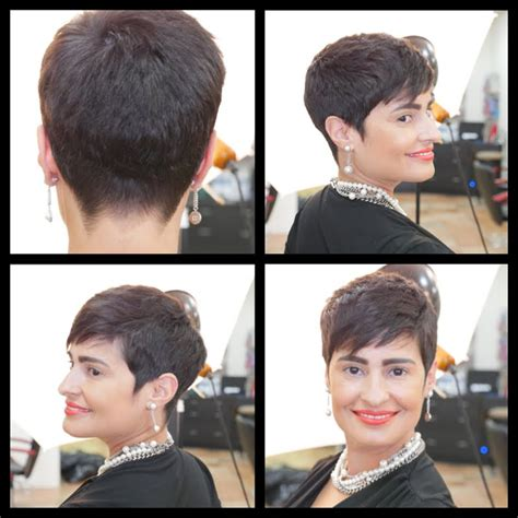 tutorial on trimming pixie cut women s haircut tutorial pixie haircut thesalonguy