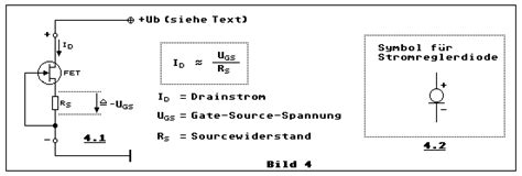 transistor jfet kanal n der transistor led und der fet konstantstromzweipol