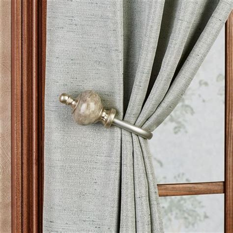curtain poles and holdbacks makrana curtain holdback pair by waverly