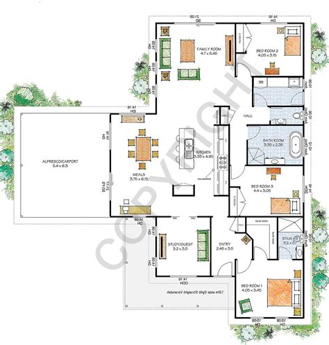 floor plans qld paal kit homes yarra steel frame kit home reversed plan nsw qld vic australia