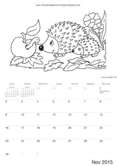 calendario para colorear november calendar november and calendar on pinterest