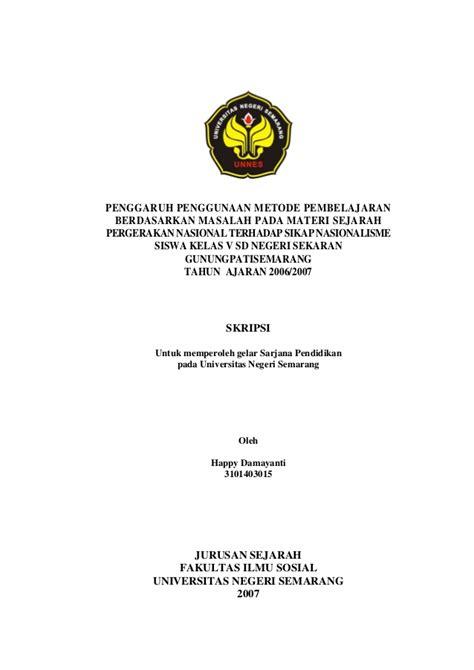 format proposal penelitian yang benar skripsi pendidikan penggunaan metode pembelajaran