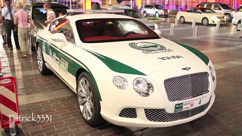 bentley dubai dubai police bentley continental gt youtube