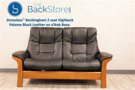 stressless buckingham 2 seater sofa stressless buckingham 2 seat loveseat high back sofa