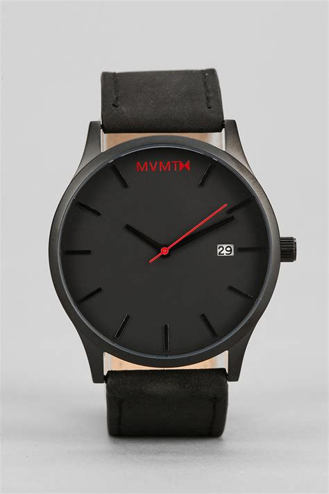 mvmt classic leather in black for lyst