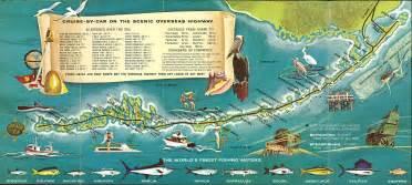 florida sightseeing map key west retro style