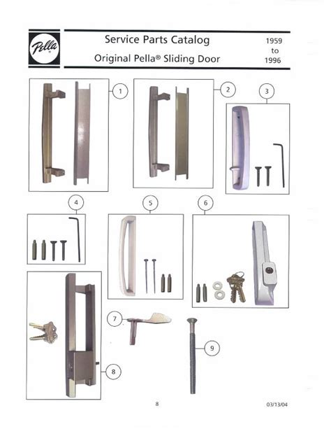 Pella Door Parts by Pella Sliding Door Handle Interior Pull Bronze
