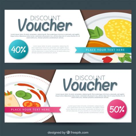 delicious discount vouchers vector free download