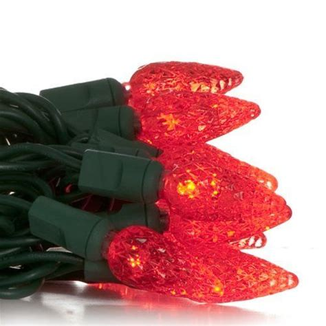 red led christmas light set green wire  primo