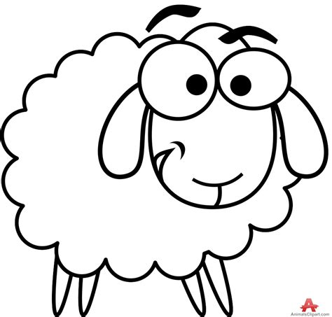 Sheep Clipart In Black And White – 101 Clip Art Lamb Black And White Clipart