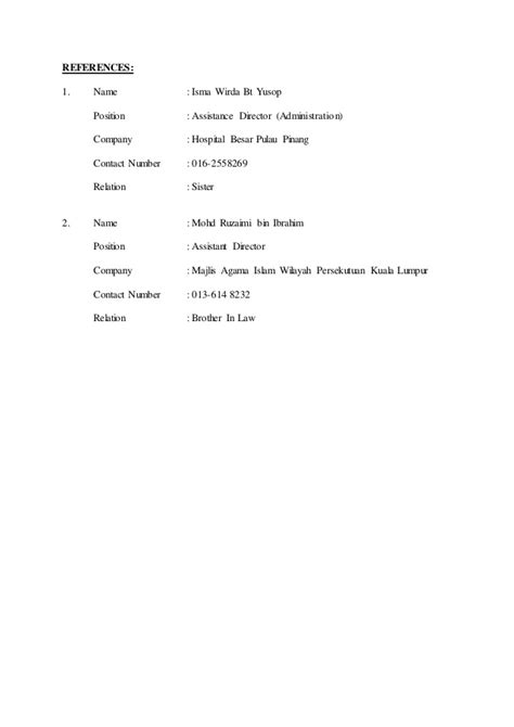 contoh own biography contoh resume