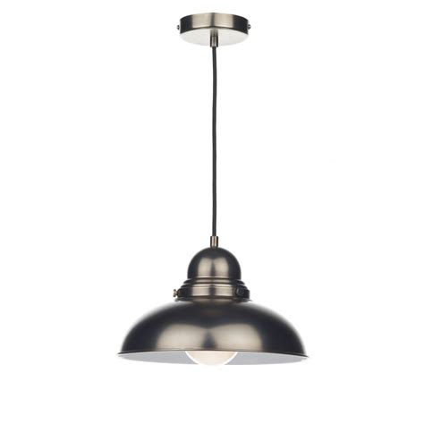 Antique Chrome Retro Style Ceiling Pendant For Over Style Ceiling Lights