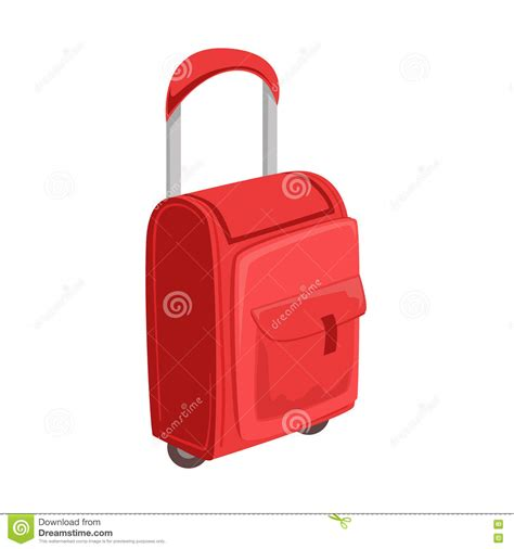 Bag Item small suitcase with pockets on wheels with telescopic