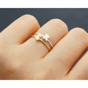 initial ring capital letter adjustable by