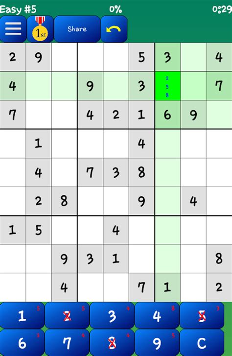 printable sudoku with pencil marks sudoku free android apps on google play