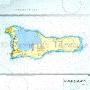 Tropical Fish Home Decor Islands Grand Cayman Nautical Chart Decor Beach Decor