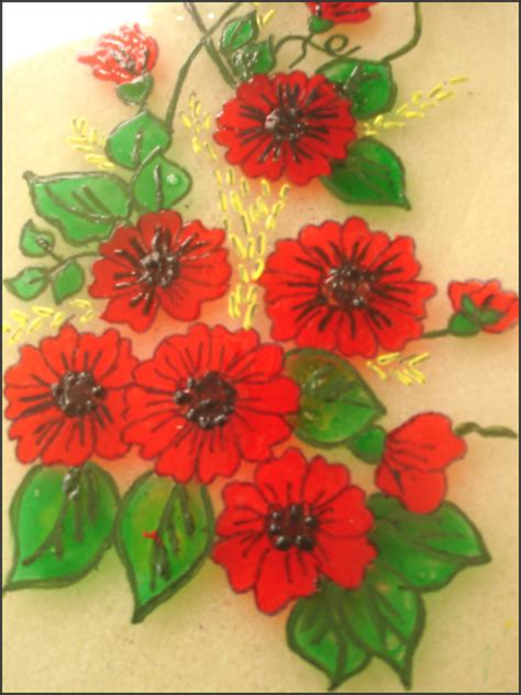 free glass painting glass painting ereena flickr