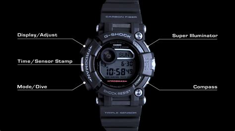 G Shock g shock frogman gwf d1000 with depth and compass g