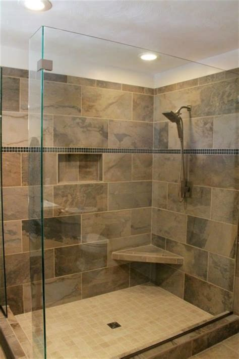 slate bathroom shower delta faucet in2ition shower head mosaic tile company