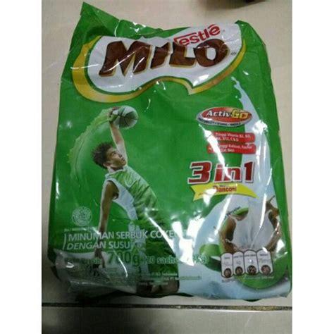 milo sachet 3 in 1 700gr 20x35gr 20 sachet pack milo