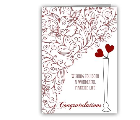 wedding message card template wonderful married wedding greeting card giftsmate
