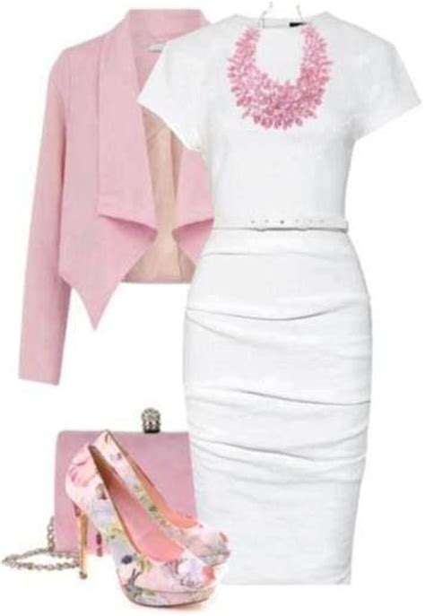 pintrest cute business outfits cute pink white outfit for professional wear work