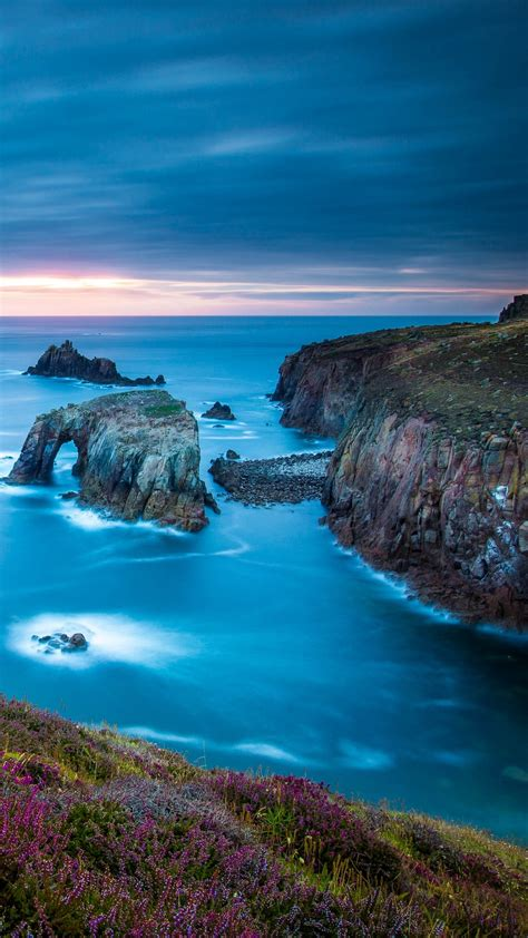 cornwall england celtic sea cape lands wallpaper