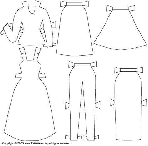 How To Make Clothes From Paper - paper doll1 clothes let s make an original coloring