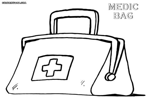 coloring page doctor bag bag coloring pages coloring pages to download and print