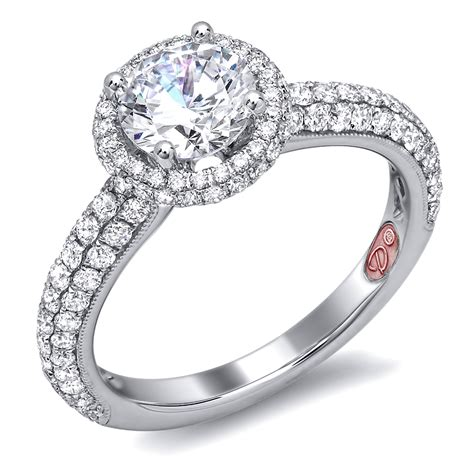 halo engagement ring demarco bridal jewelry