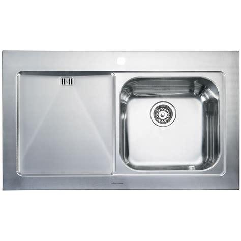 Rangemaster Mezzo 1 Bowl Stainless Steel Kitchen Sink