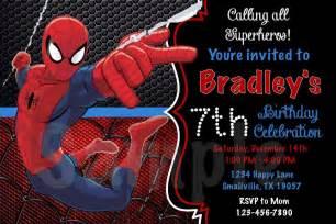spiderman birthday invitations 187 birthday invitations