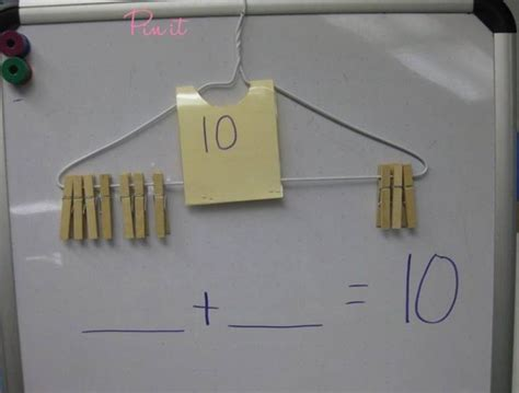 Hanger Mumer Use A Coat Hanger And Pegs To Help Learn About Number