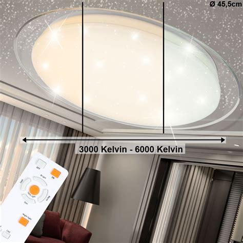Deckenleuchte Rund Großer Durchmesser by Led Deckenleuchten Mit Sternenhimmel Optik F 252 R Den