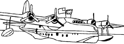 water plane coloring page coloring seaplane picture