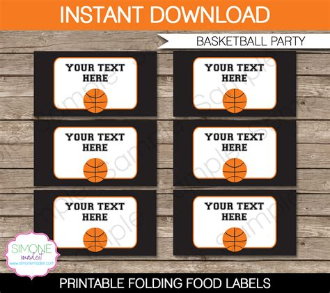 buffet food labels templates basketball food labels template food labels