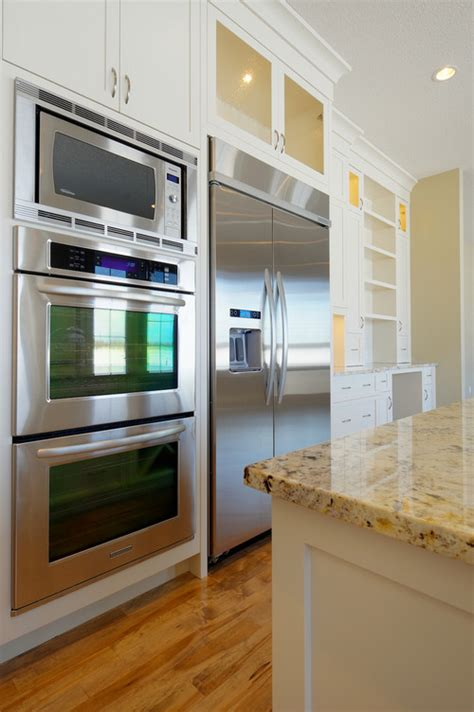 kitchen layout fridge next to oven why you should flush mount a wall oven reviews how tos