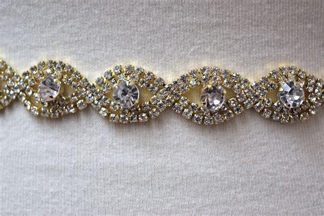 Rhinestone Belt eym b036 gold rhinestone bridal belt