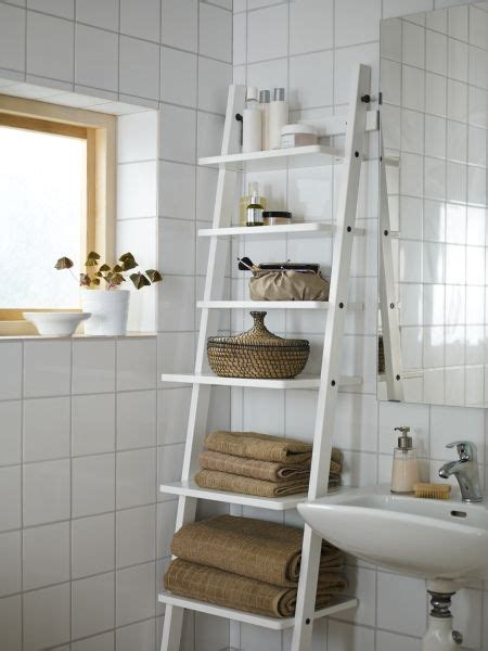 Hjalmaren Ladder Shelf hj 196 lmaren wall shelf black brown something new towels